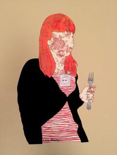 Autorretrato con tenedor