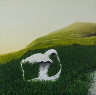 Verano (acrílico en tela 150 x 150 cm.)