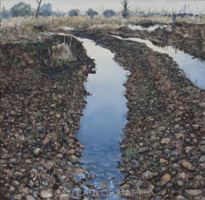 Roderas Oleo/madera 100 x 100 cm. (2015) - Juan Carlos Matilla Álvarez