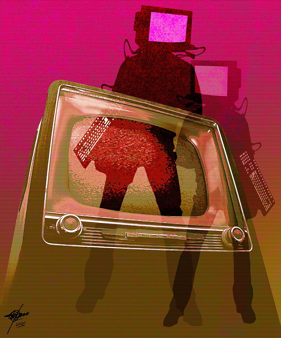Brain wash (2020) - Osvaldo Russo Salles - Digital y con Arte