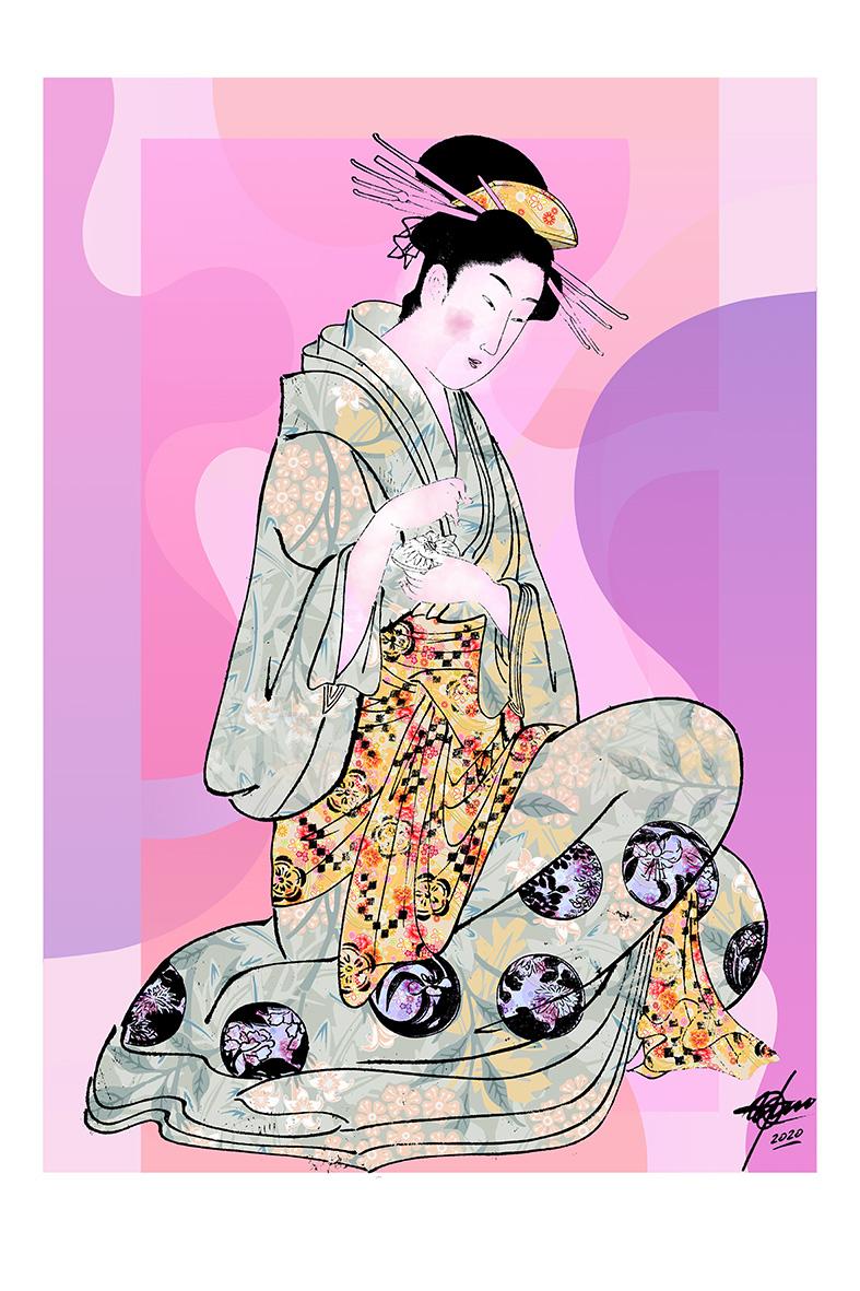 Geisha I (2020) - Osvaldo Russo Salles - Digital y con Arte