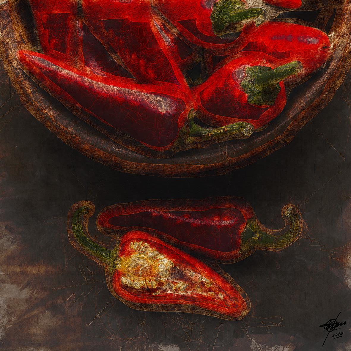 Red hot chillie (2020) - Osvaldo Russo Salles - Digital y con Arte