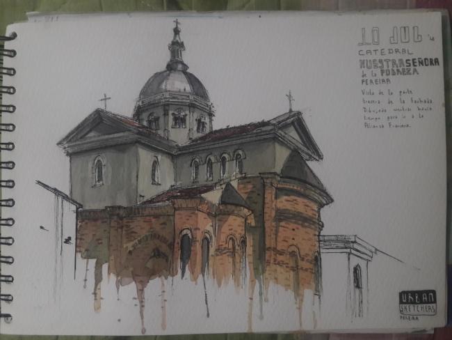 Vista Iglesia Nuestra señora de la pobreza Pereira