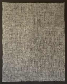 MICROGRAMAS (Homeneje a Robert Walser) Hilo cosido y algodón. 92x73 cm. 2016