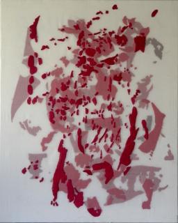 SIN TÍTULO. Hilo bordado, organza y algodón. 81x65 cm. 2016
