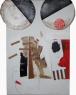 OPUS 17. De la colección: The curves of Rosa. Mi jardin amoroso. Tècnica mixta sobre cartró de capes, 51 x 65 cm. Mas de Barberans, Pere Planells 2019.