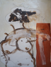 OPUS 29.De la colección: The curves of Rosa. Guerras de amor. Técnica mixta sobre cartón de capas, 70 x 100 cm. Mas de Barberans, Pere Planells 2019.