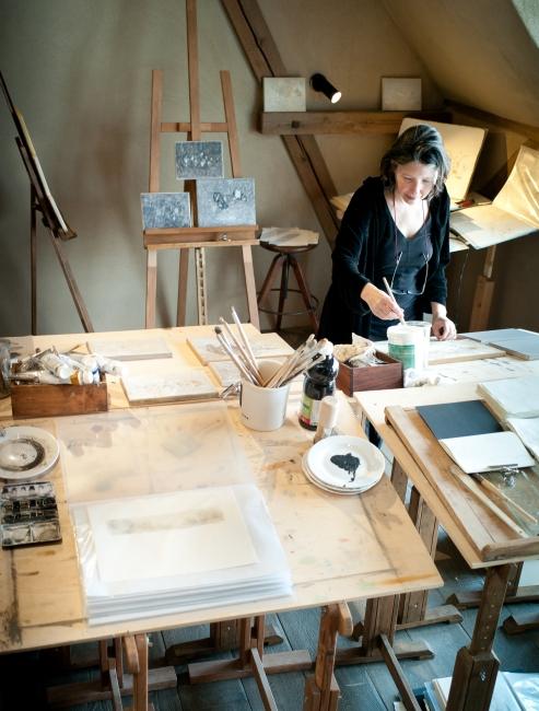 Gabriela Stellino en su atelier - Foto Telemach Wiesinger