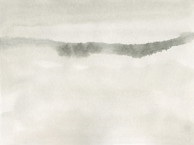 De la Serie Limites de la visibilidad I acuarela Nr. 139 I Gabriela Stellino