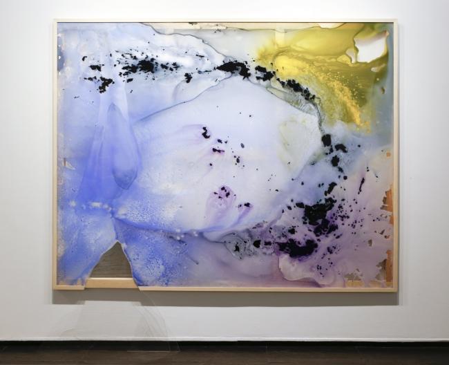 Haze. 2017. Acrílico sobre metacrilato pvc espejo y bastidor de madera. 185 x 230 cm.