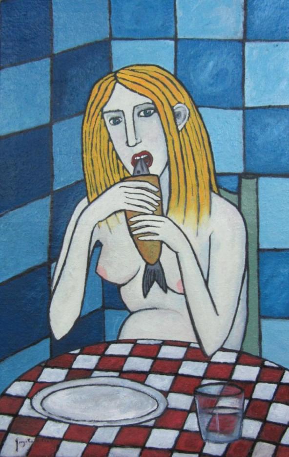 Mujer comiendo pescado (2014) - Jorge Beda