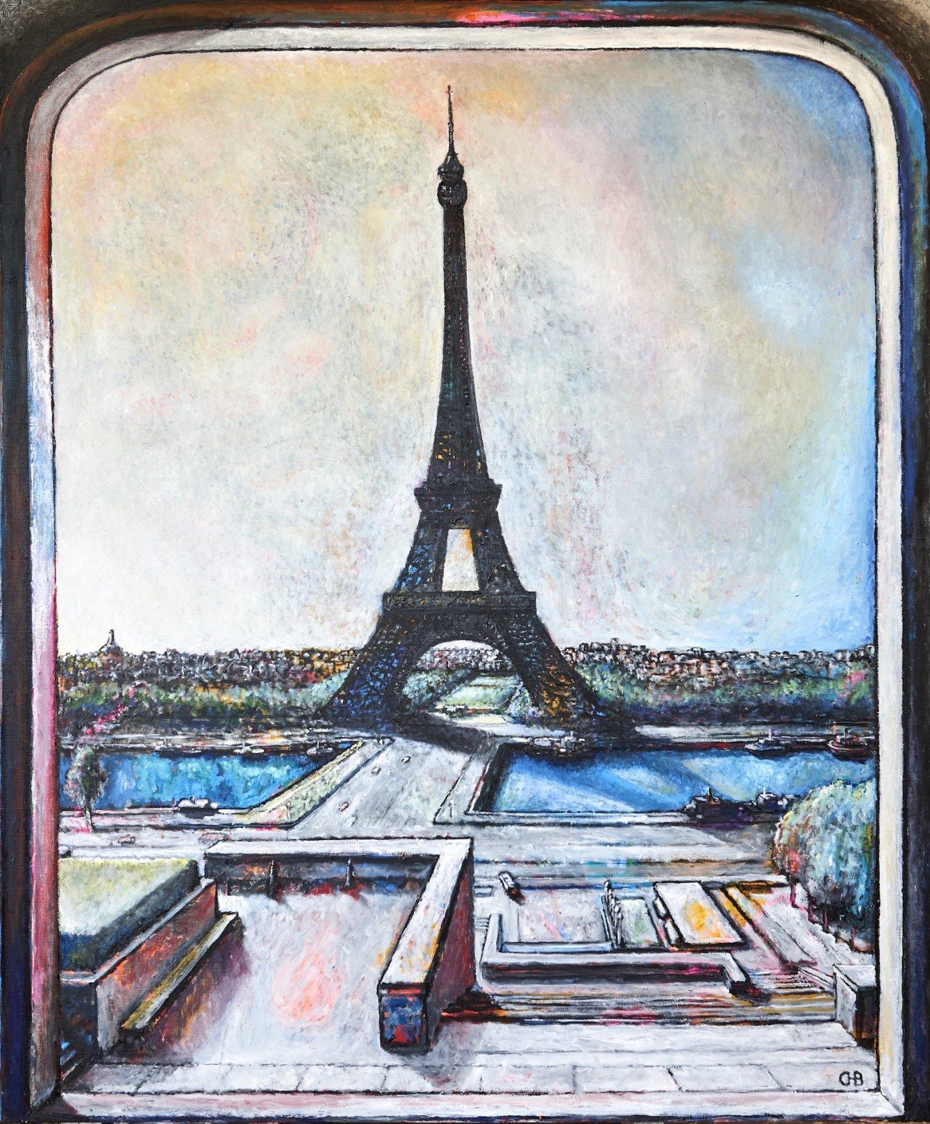 Homenaje a París I, La torre Eiffel desde el Trocadero