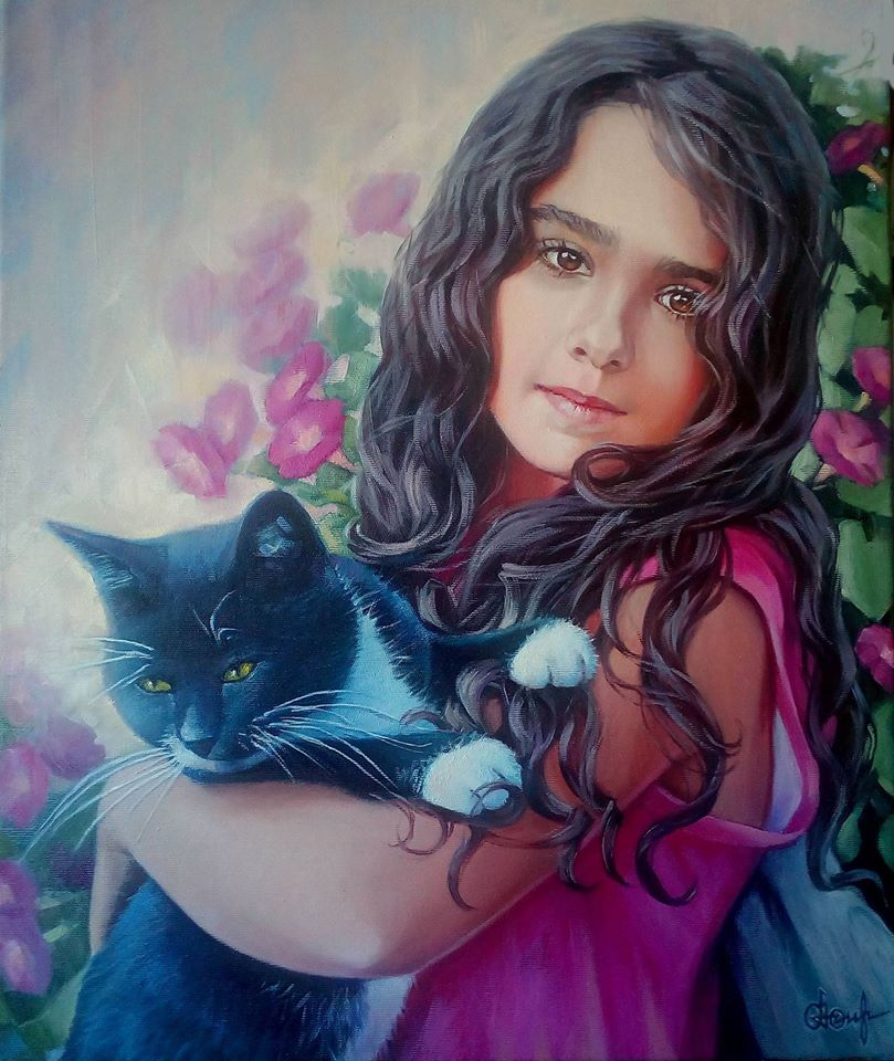 Niña con gato (2017) - Olga Ossintseva