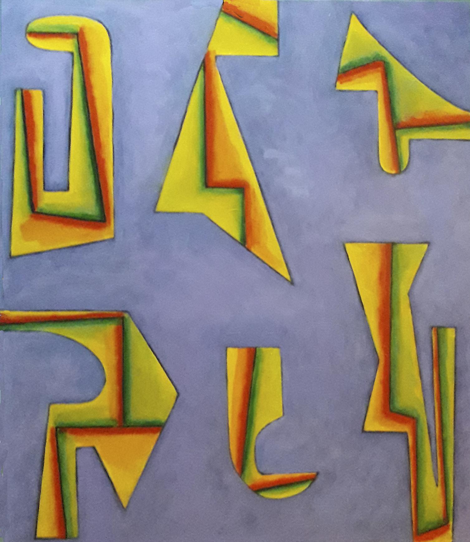 PARALELAS, Acrílico sobre tela 100x100 cm. (2020) - Daniel Jorge Castro Cuccuini
