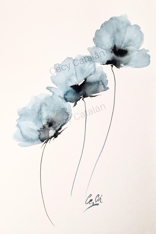 three blue (2020) - Cecilia Catalán Alvarado - Cecy Catalán
