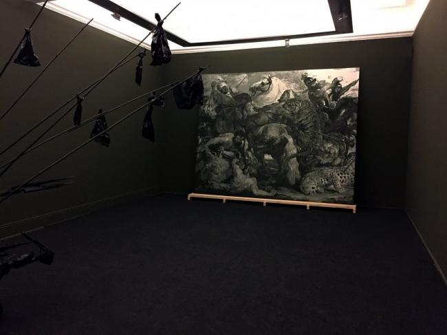 Ciudad Negra, Instalacion. MSSA - Museo de la Solidaridad Salvador Allende