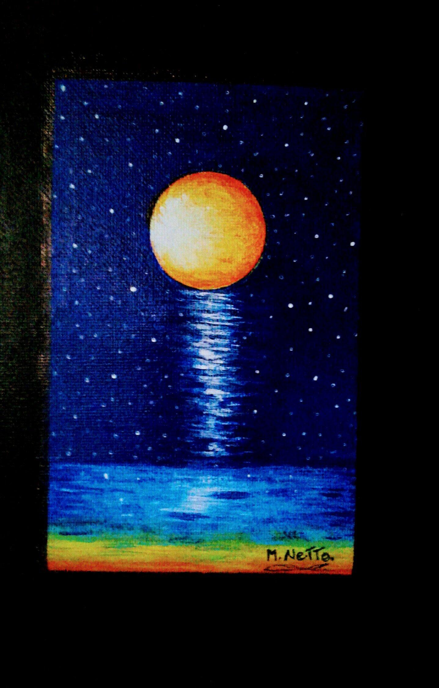 La Luna vista desde la playa (2019) - Christian Mery Netto Da Costa