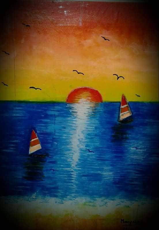 """Atardecer en el mar """""""