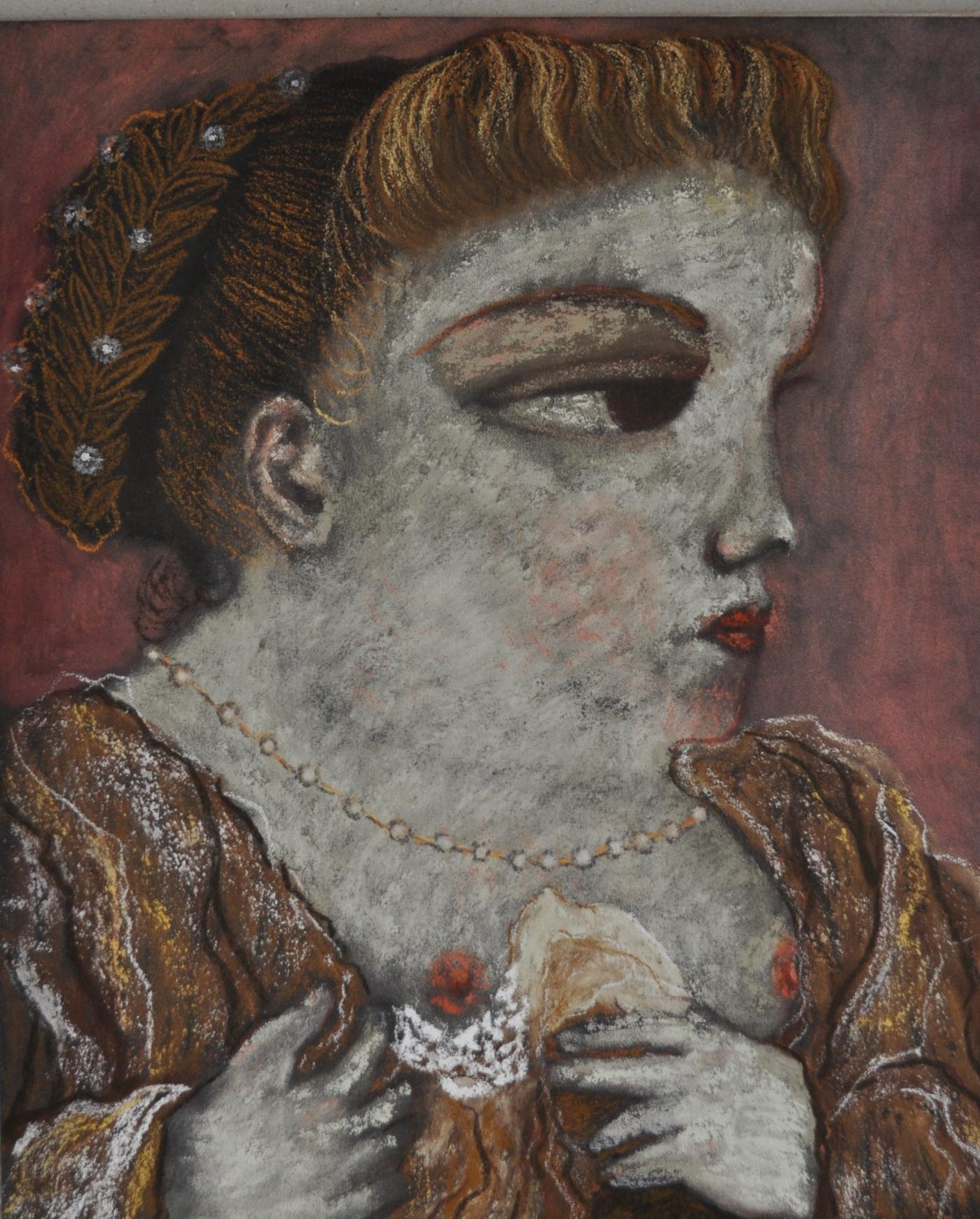 Dama que enseña el seno after tintoretto