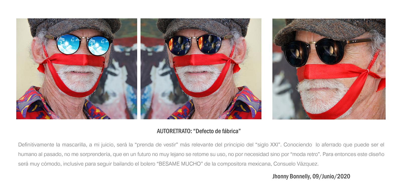 """DEFECTO DE FABRICA"" autoretrato (2020) - Jhonny Bonnelly"