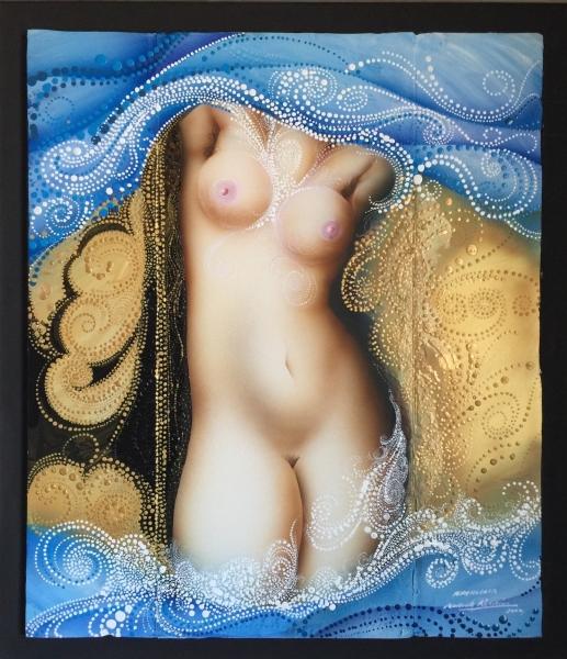 07-Aphrodita Acrilico sobre Tabla 42x52