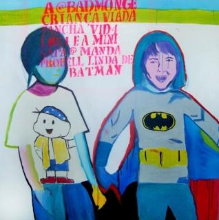 @badmonge e @mandaprohell  100cm x 100cm acrílica, óleo e spray sobre tela 2013. Cortesía de la artista