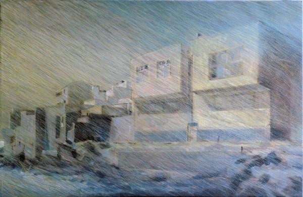 S/T de la Serie Confín, 2013. Óleo sobre lienzo, 60x92cm.