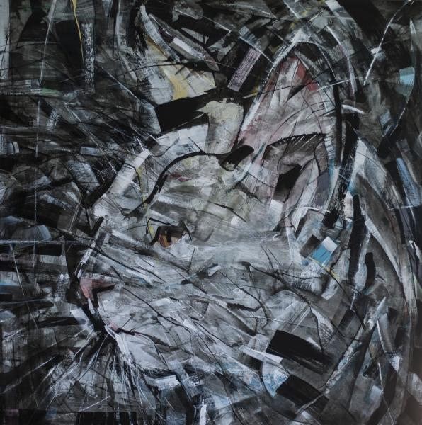 Liw, 2017. Acrílico sobre lienzo, 100x100cm