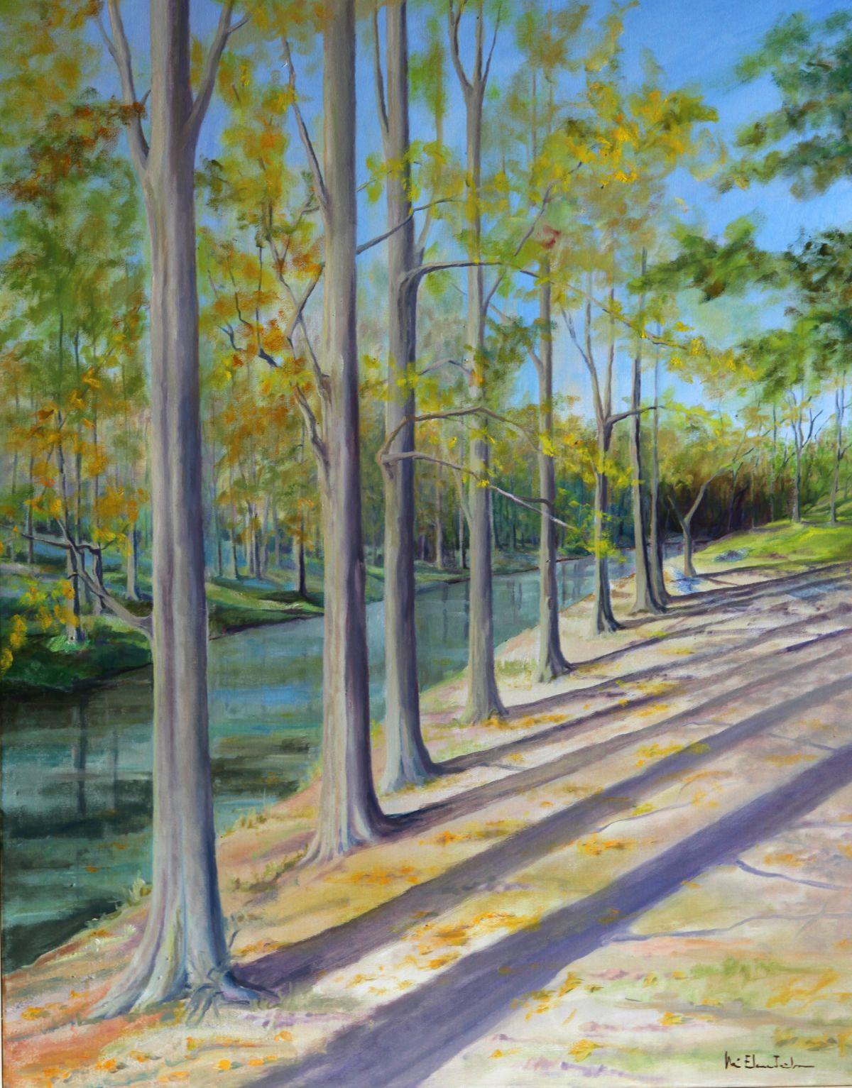 otoño junto al río (2011) - Mª Elena Iribarren