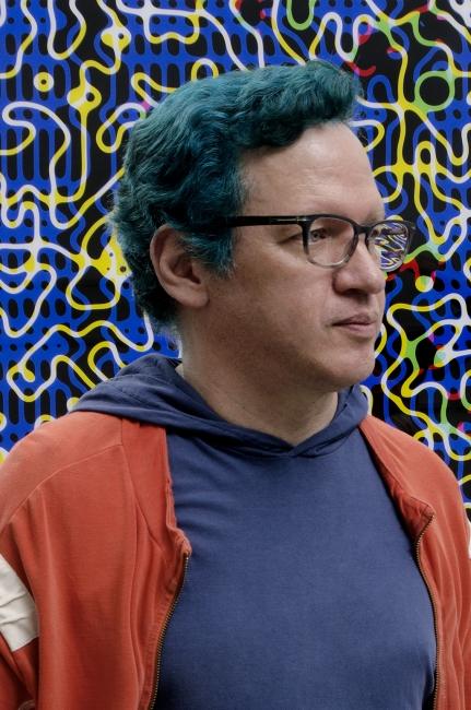 José Luis García R. en «El lenguaje del color» [foto: Julio Osorio]