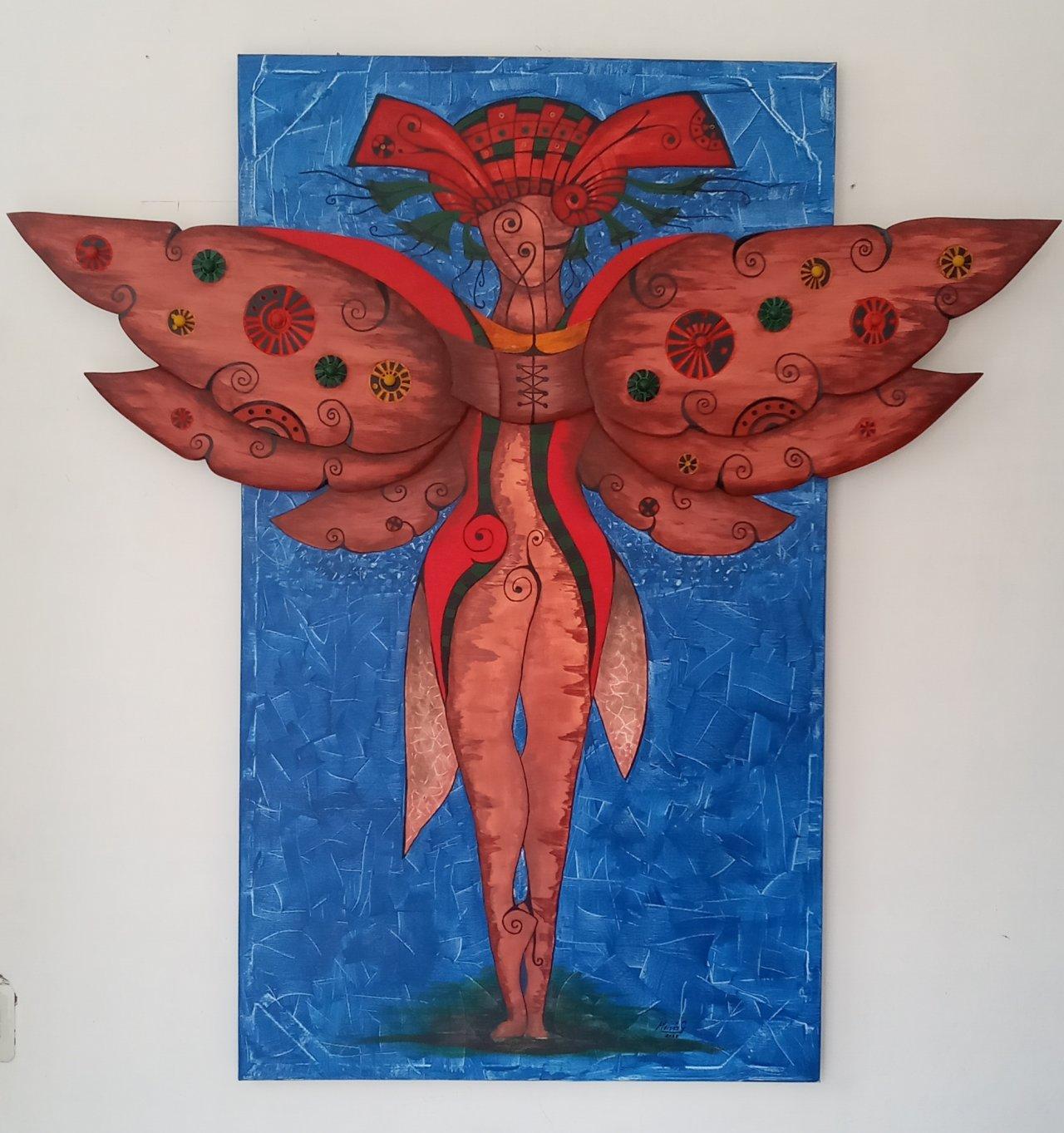Los humanos debemos nacer con alas (2020) - Moisés González Acosta
