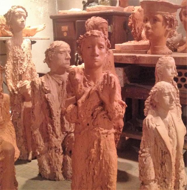 Grupo de esculturas de Ramón Muriedas