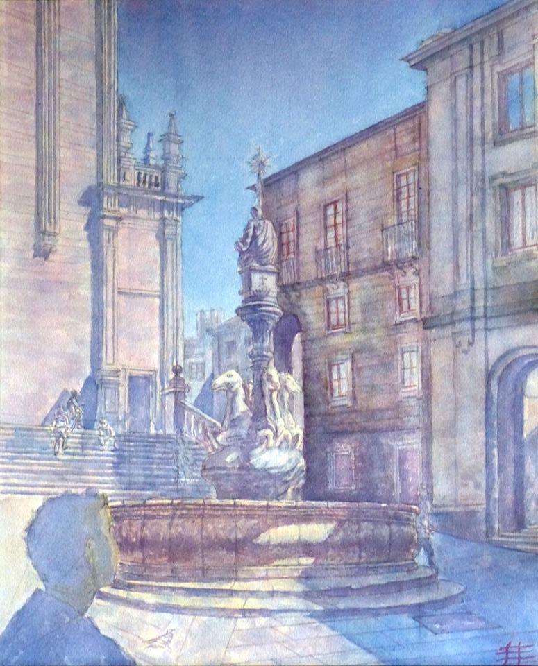 Plaza de la estrella (santiago de Compostela) (2017) - Félix Luis Díaz - FIZ