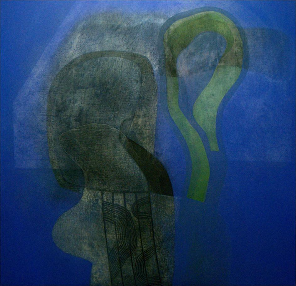 De la serie Comunión con la naturaleza - Óleo sobre lino. 130 x 130 cm