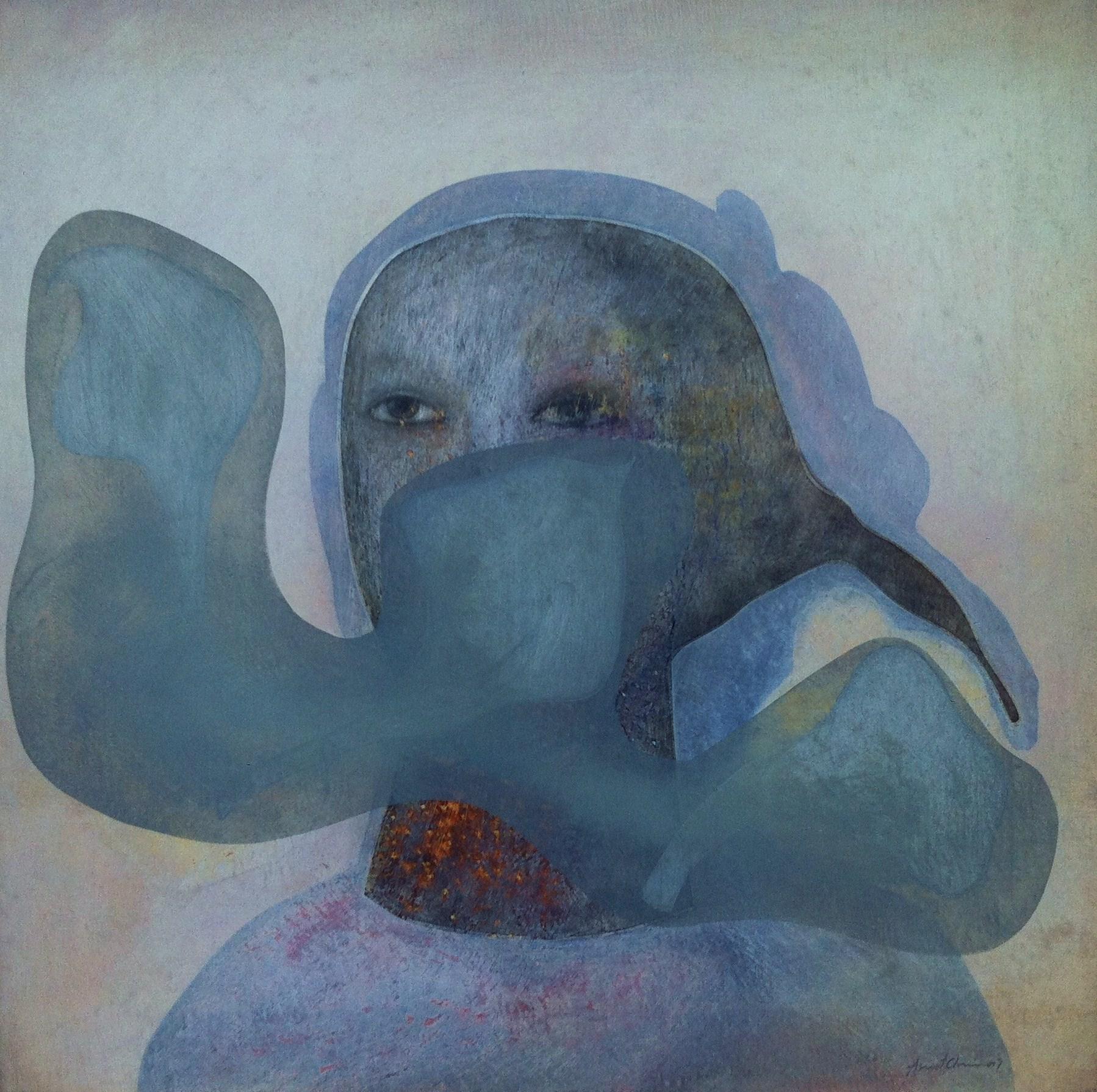 De la serie Nube gris - Óleo sobre lino. 50 x 50 cm (2012) - Asmat Chirinos-Zavala