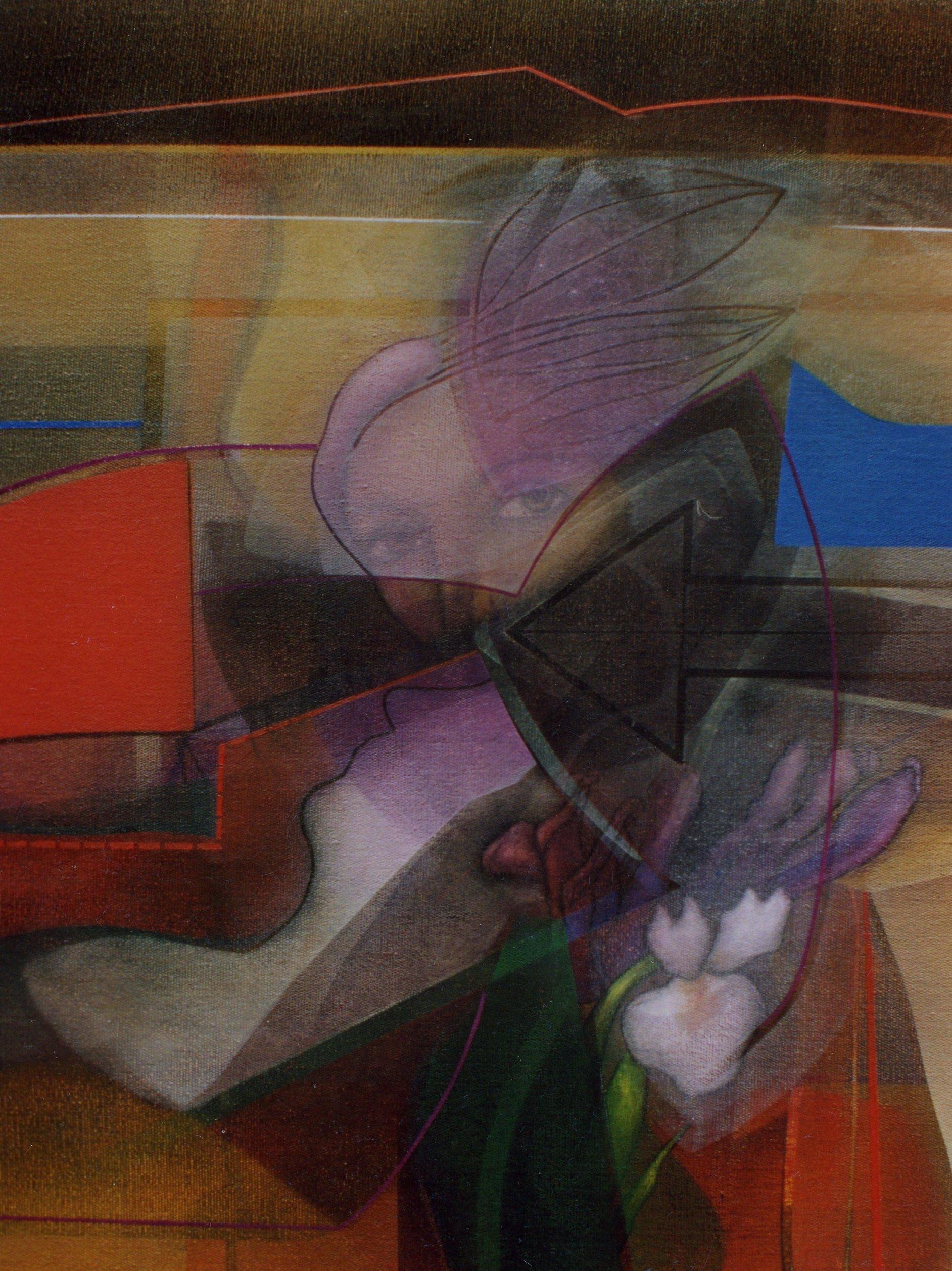 Ausencia en silencio. Óleo sobre lino. 81 X 65 cm (2003) - Asmat Chirinos-Zavala