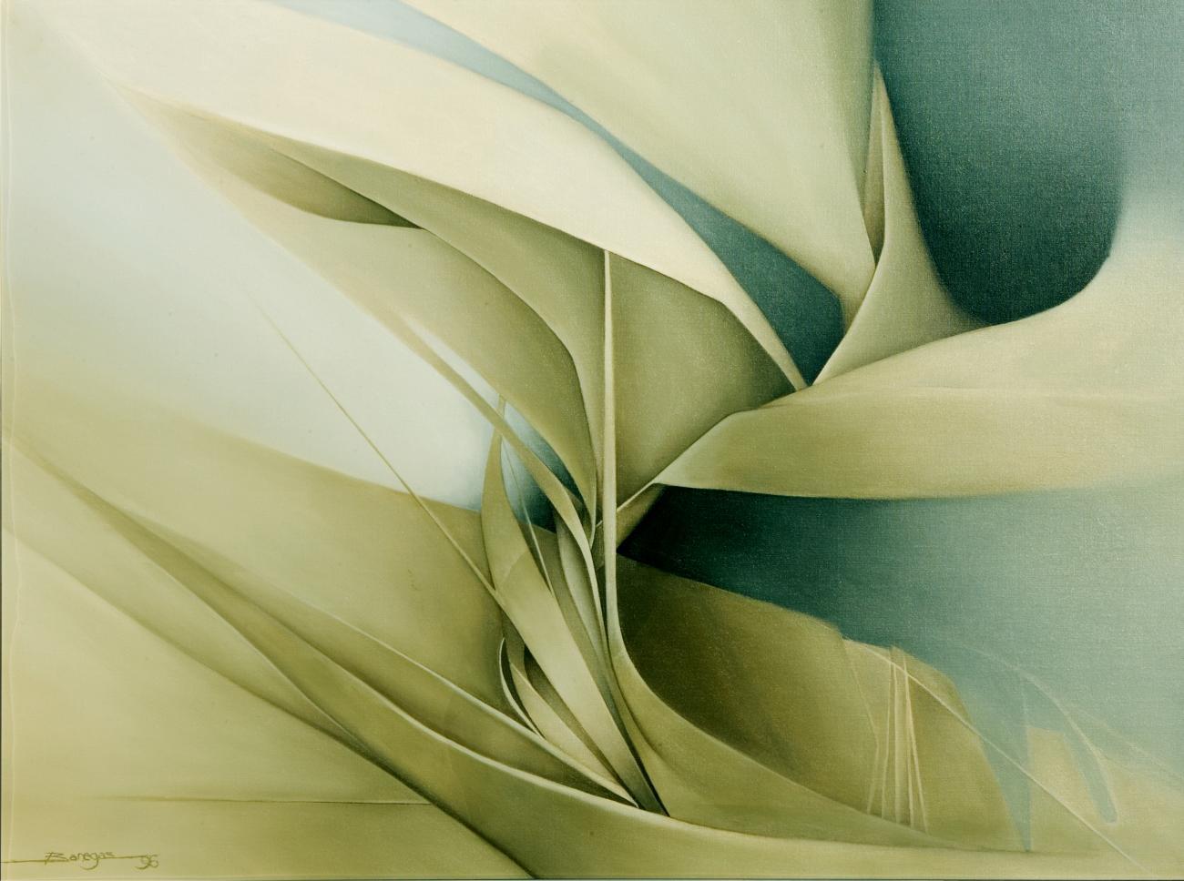 Paisaje con olivo y viento (1997) - Augusto Banegas