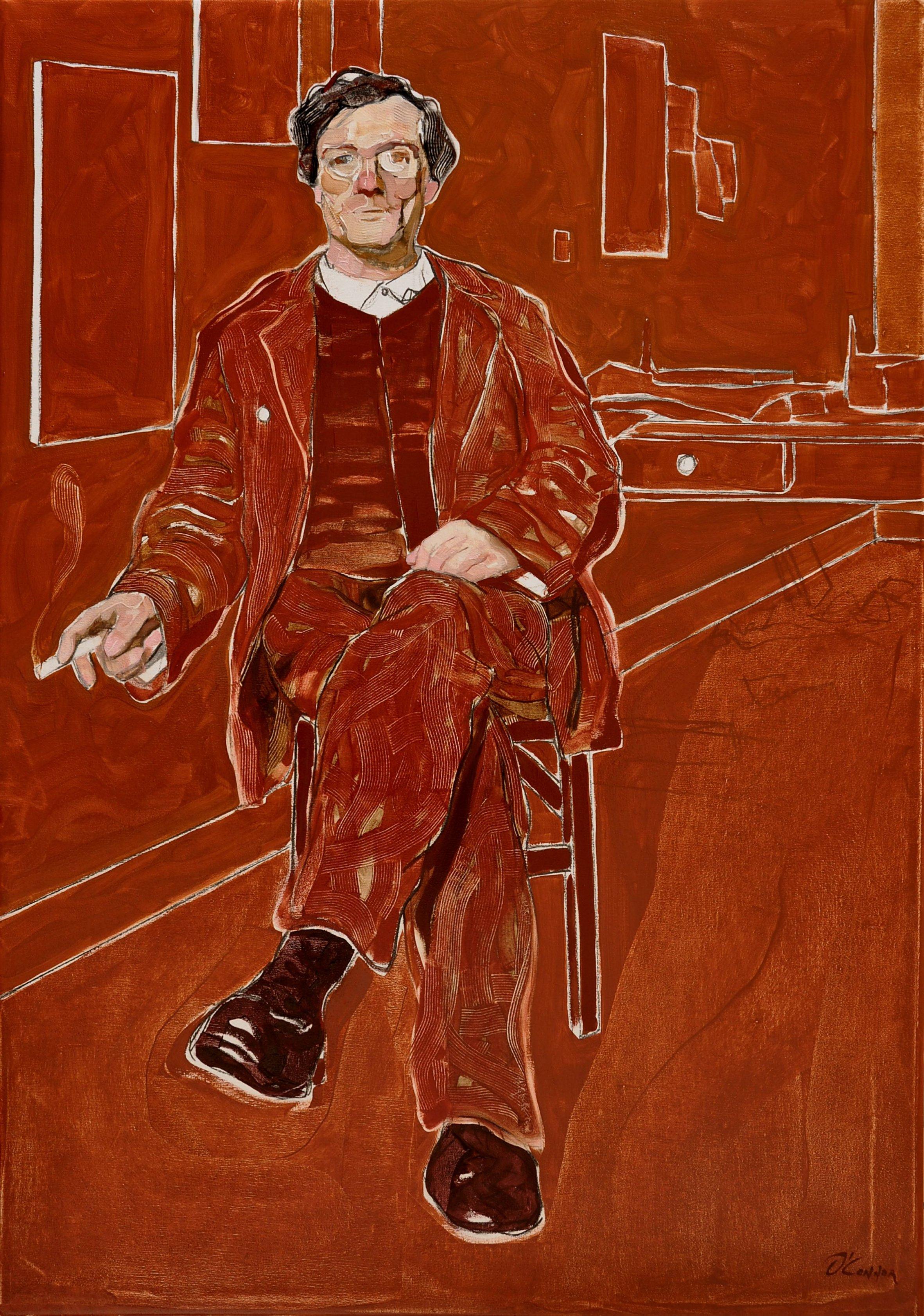 Pintor fumando II - A. Modigliani (2016) - Fernando O'Connor