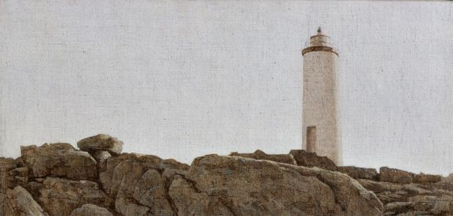 Faro do Roncudo, 2002. Acrílico/lienzo. Colección Sanz-Villar Centro de Arte Faro Cabo Mayor. Autoridad Portuaria de Santander.