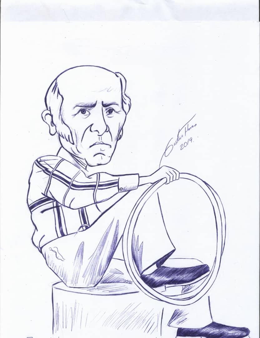 Abuelo Malabarista (2019) - Gustavo José Flores Rojo - Gust.art