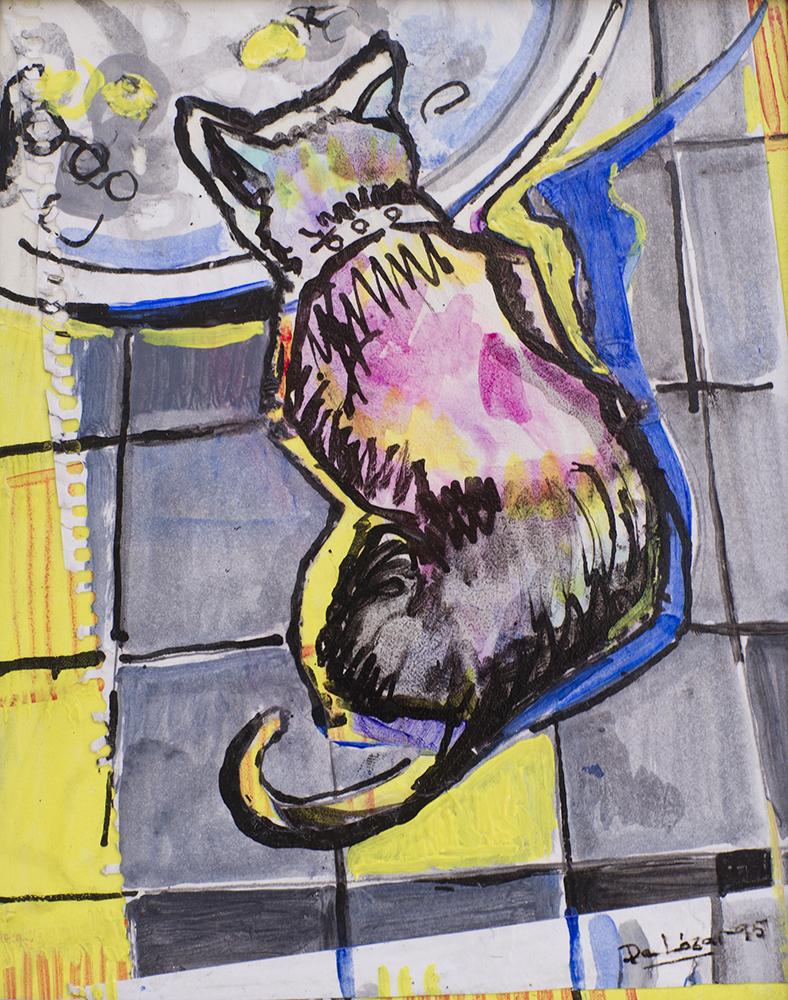 Gato comiendo (1995) - Ricardo De Lózar