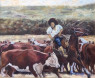 Arriando Oleo espatulado sobre lienzo 50 x 60