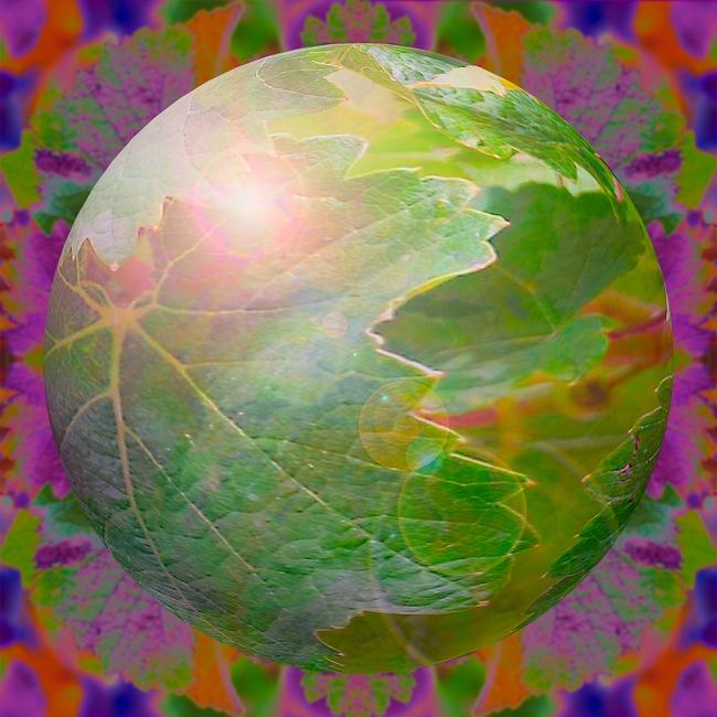 Planeta Verdejiano (digital, 80x80 cm)