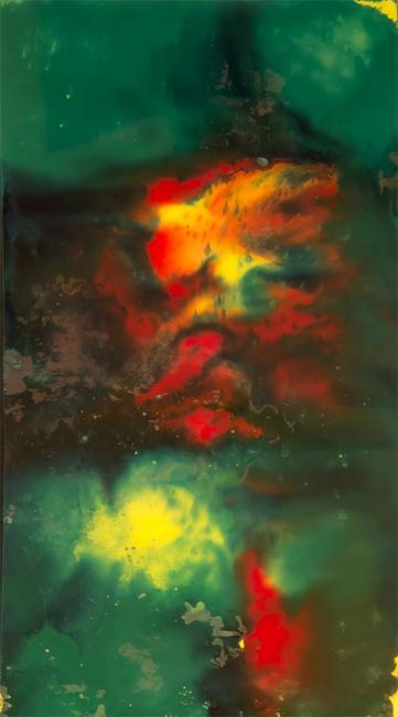"Magma (serie ""Universos"", tinta sobre metacrilato, 28x15,5 cm)"