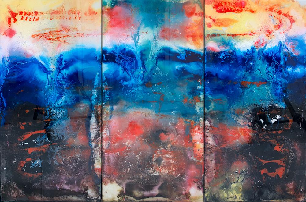Mar embravecido (tríptico) (2021) - Guadalupe Luceño