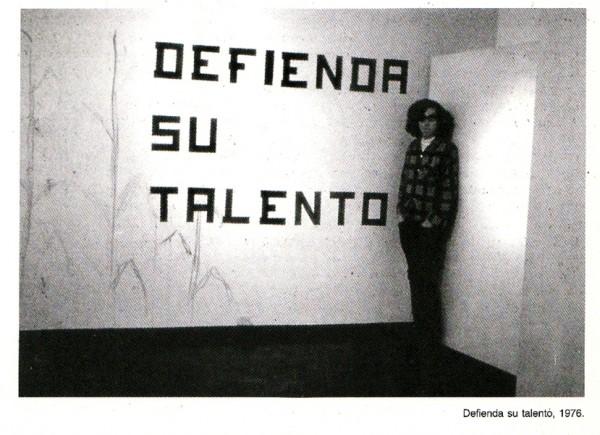 Defienda su talento, 1978 Mural. Cortesía de ARTBO y Galería Casas Riegner