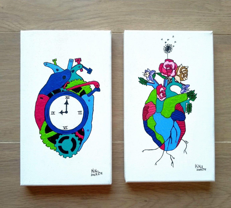 Beating Heart & Waiting Heart (2019) - Kirsten Loewenthal - KikiLoe