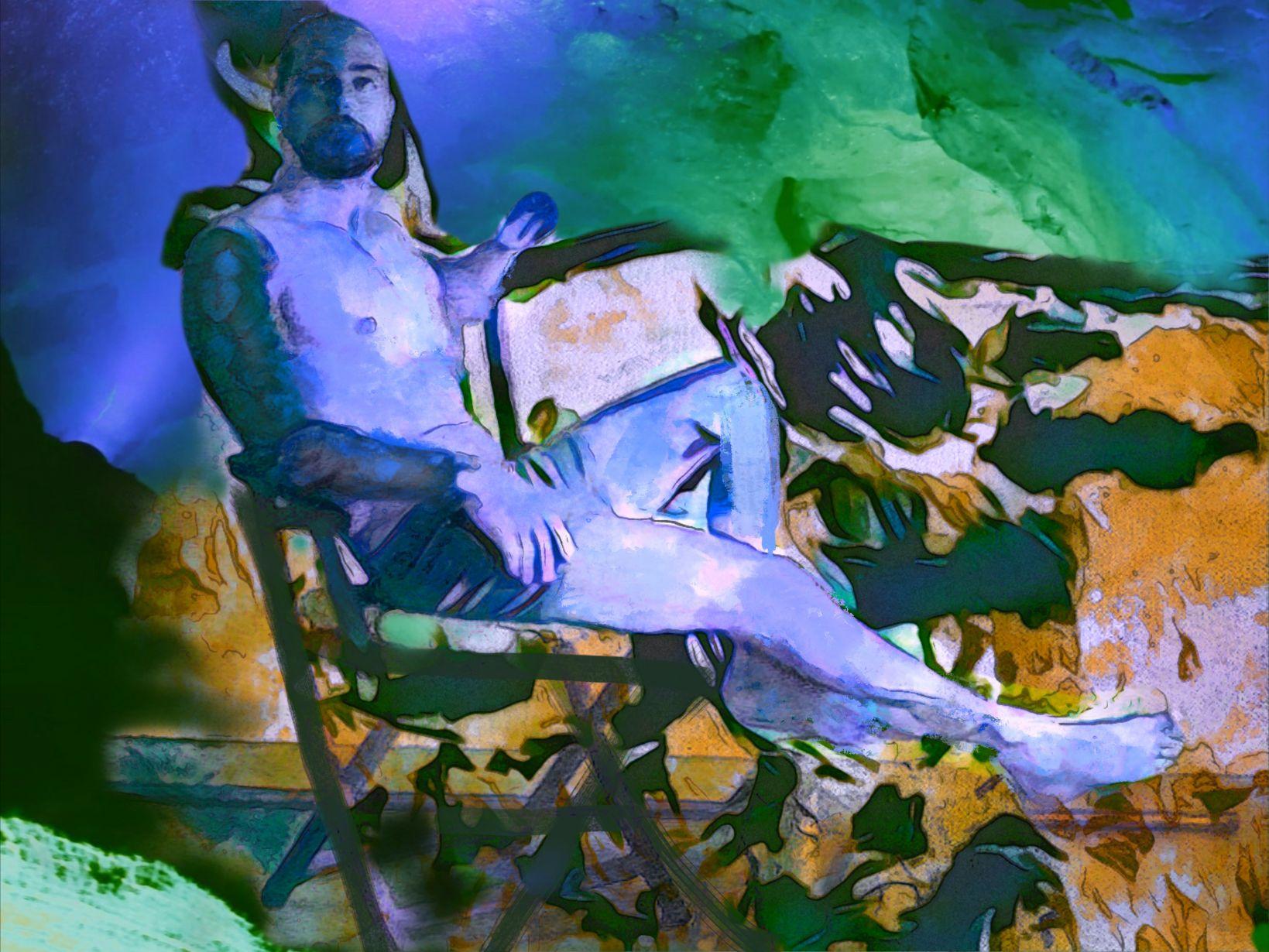 Hombre sentado (2021) - Soledad Fernandez Fernandez