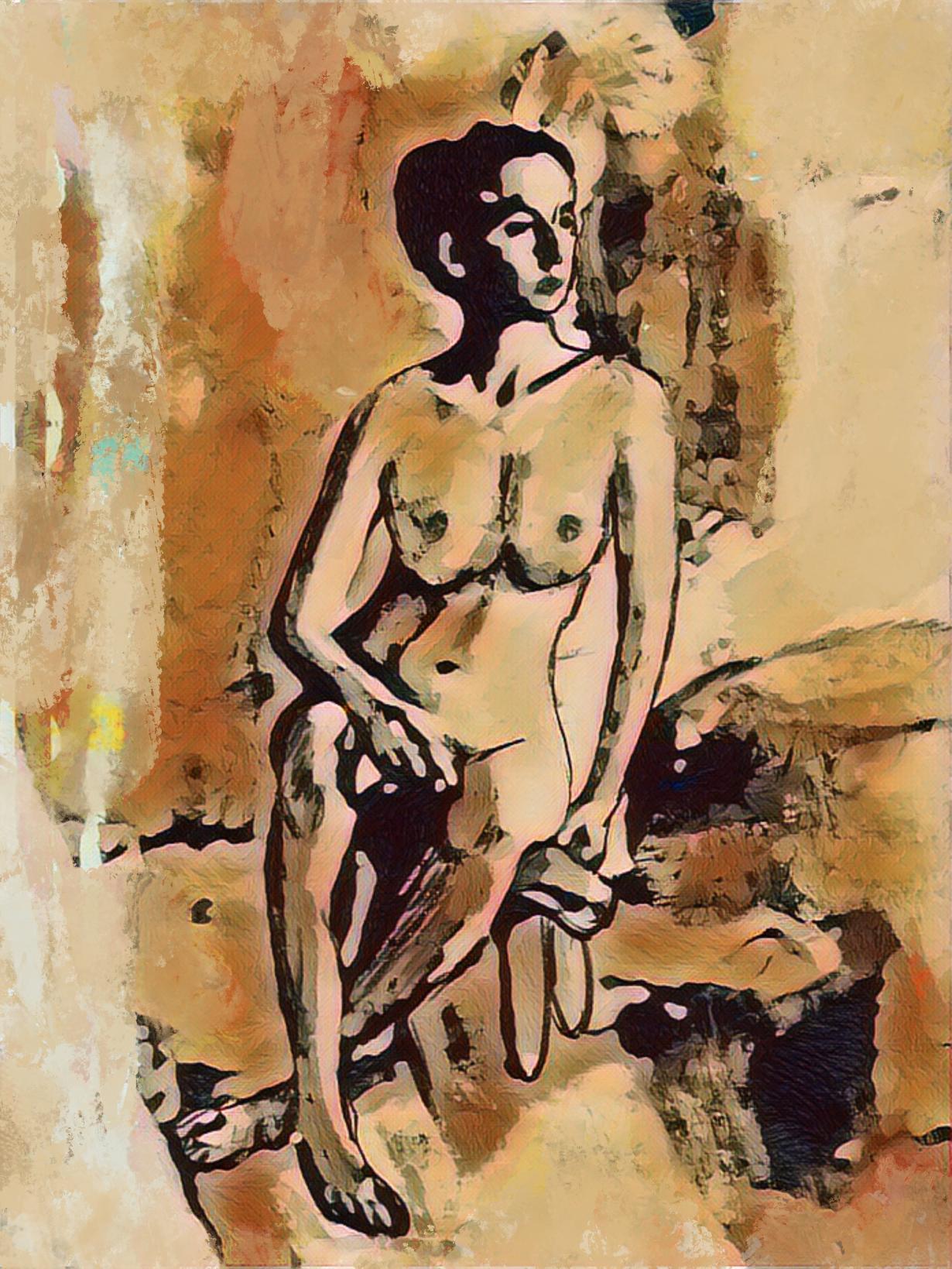 Mujer en ocres (2021) - Soledad Fernandez Fernandez