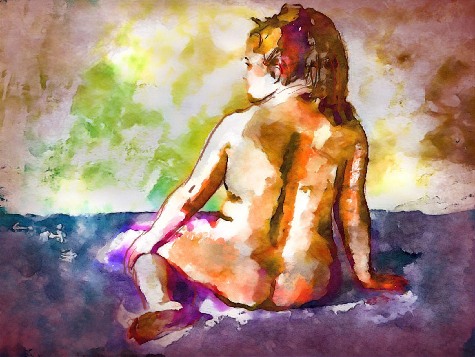 Desnudo de espalda (2021) - Soledad Fernandez Fernandez
